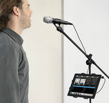 """tablet holder and phone holder for Microphone stand ABC plastic mount for Apple Ipad for Iphone 4.5-10.5"""" ereader car backseat"""
