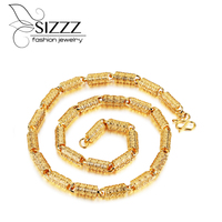 SIZZZ Direct factory price wholesale gold color necklace domineering big gold chain necklaces for men