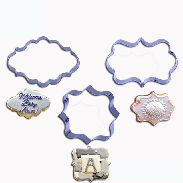 3 pieces classic stainless steel cookie cutter biscuit cutter fondant mold cake decorating tools