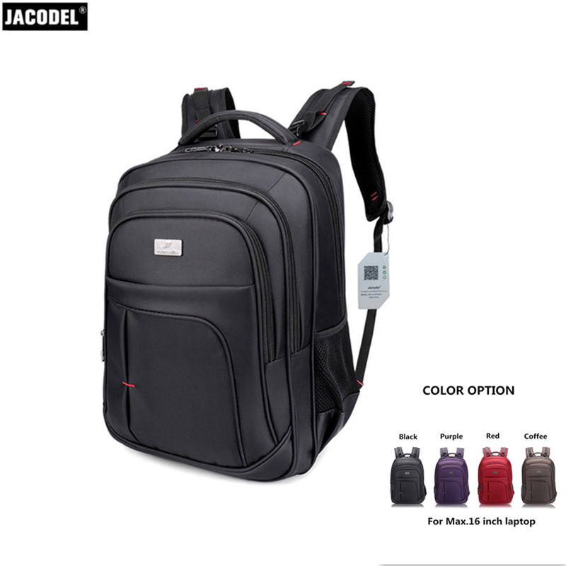 Jacodel Unisex Large Capacity Backpack for Laptop 15.6 15 14 13 inch Laptop Bag for Macbook Air Pro 15 Dell Asus 15.6 School Bag jacodel unisex large capacity backpack for 15 6 inch laptop bag for dell asus 15 6 men 15 6 girls travel back pack school bags