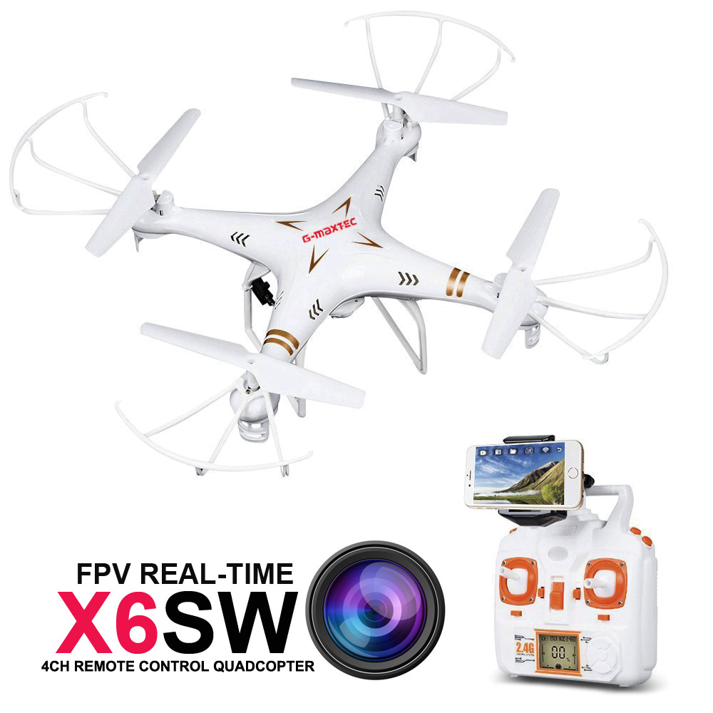 RC Drone Quadcopter X6SW With HD Camera 6-Axis Wifi Real-Time Helicopter FPV Quadcopter VS Syma X5SW X705 rc drone quadcopter x6sw with hd camera 6 axis wifi real time helicopter quad copter toys flying dron vs syma x5sw x705