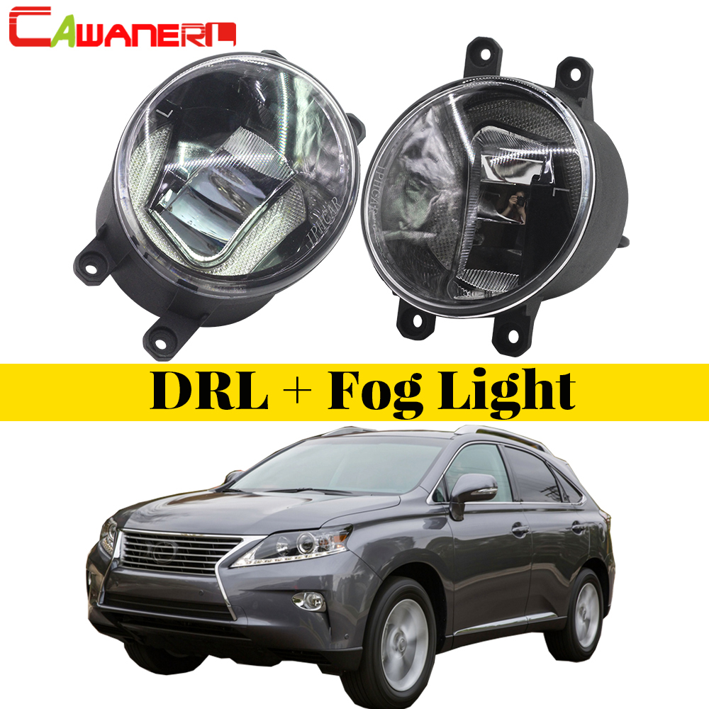 Cawanerl 2 X Car LED Lamp Front Fog Light Daytime Running Lamp DRL White 12V Styling For Lexus RX350 RX450h 2010 2011 2012 2013 car styling daytime running lights fog lamp drl led abs chrome for toyota land cruiser prado 2010 2011 2012 2013 accessories