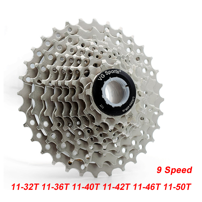 MTB 11-32T 11-36T 11-40T 11-42T 11-46T 11-50T 9 Speed Cassette Bicycle Freewheel Sprocket Cdg 9S Mountain Bike Freewheel bicycle mtb freewheel 11 32t 36t 40t 42t 46t 50t sprockets 8 9 10 11 speed cassette mountain bike flywheel cog