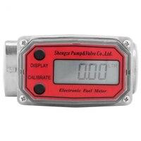 SHGO HOT Digital Turbine Flowmeter 15 120L Fuel Flow Tester Npt Indicator Sensor Counter Liquid Water Flow Measure Tools