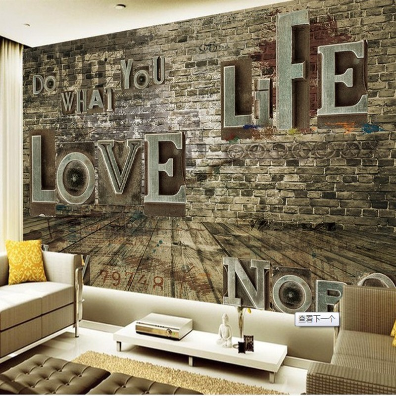 Popular love letters wallpaper buy cheap love letters for Living room 7 letters