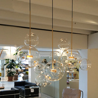 Modern Bolle LED Pendant Lights Globe Glass Pendant Lamps dining room Foyer Bubbles Hanglamps Light Fixtures Lustre luminaria