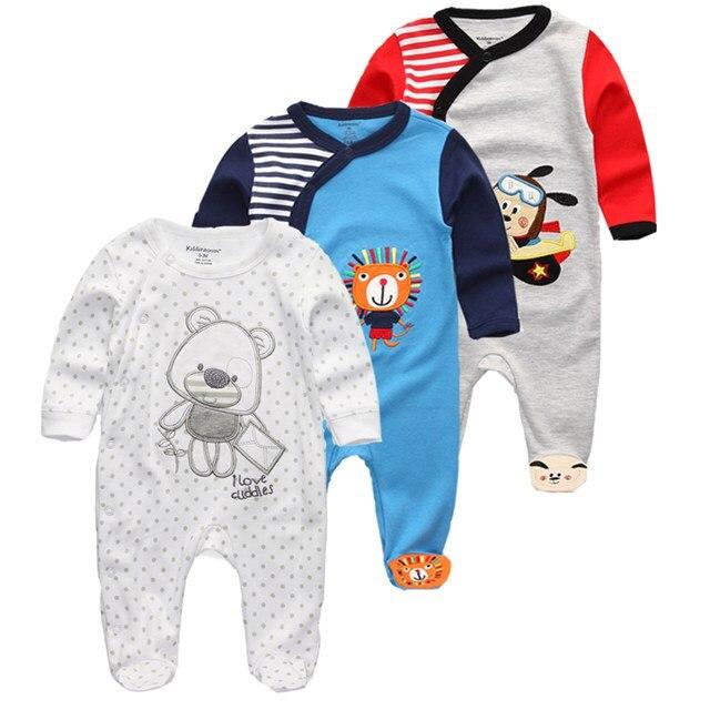 Kiddiezoom 2/3/4Pcs/set Baby boys shirts clothes sets newborn clothing boys romper summer roupa infantil outfit costumes