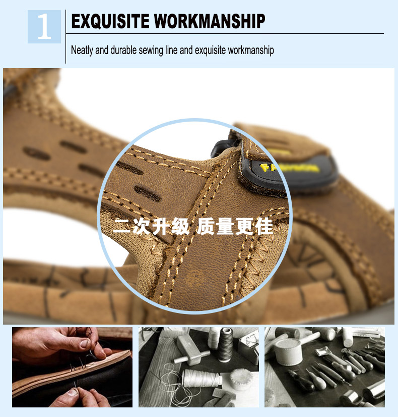 Hot Sale New Fashion Summer Leisure Beach Men Shoes High Quality Leather Sandals The Big Yards Men\`s Sandals Size 38-45 (3)