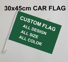 free  shipping Custom Car Flag Banner Polyester Flying Size 45X30cm Blue Line usa Police 30x45cm American car flag