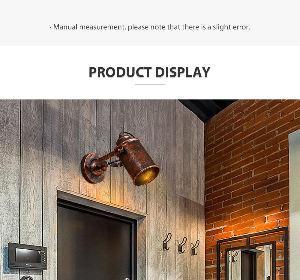 Lâmpada de parede industrial do vintage luz