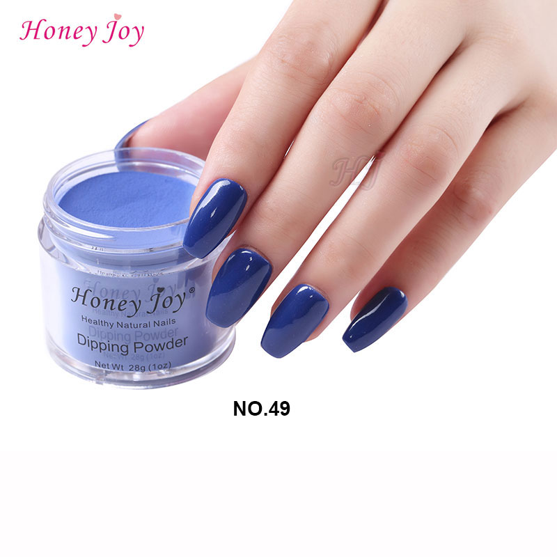 New 28g/Box #49 Navy Blue Dip Powder Nails Dipping Nails ...