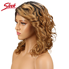 Sleek Brazilian Short Lace Front Wig Curly Human Hair Wigs For Black Women Fashion BLond Lace Front Human Hair Wigs
