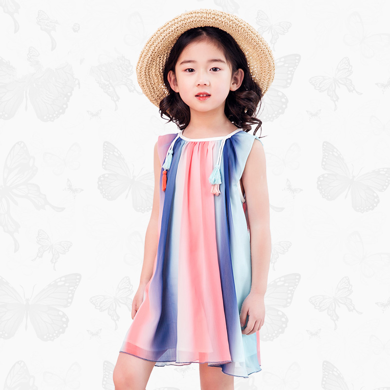 Girls Dress with Handmade Dragonfly 2017 Brand Princess Dress Long Sleeve Robe Fille Clothes Kids Dresses 25