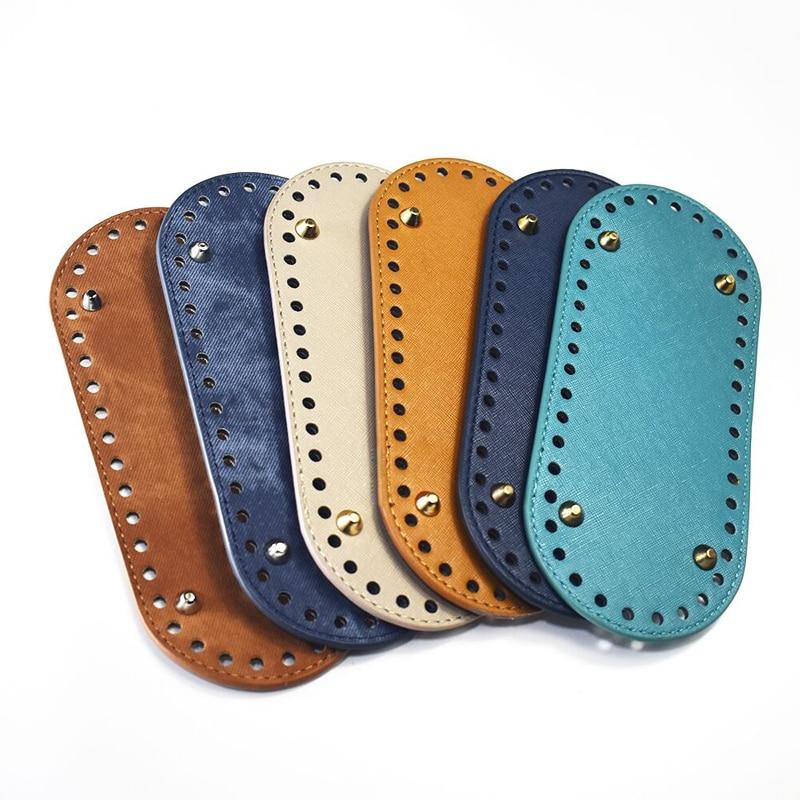 1PC Bag Bottom Shaper Bags Cushion Pad Denim For Women Shoulder Handbag Making DIY Purse Accessories Black Brown KZBT002 KZBT003
