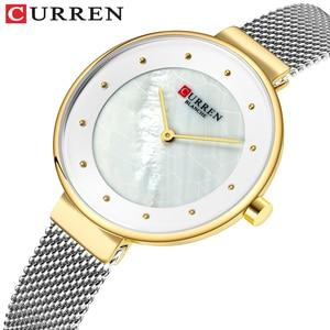 Image 2 - Creative Dialนาฬิกาผู้หญิงนาฬิกาควอตซ์CURRENเหล็กตาข่ายนาฬิกาข้อมือสุภาพสตรีสร้อยข้อมือนาฬิกาผู้หญิงBayan Kol Saati