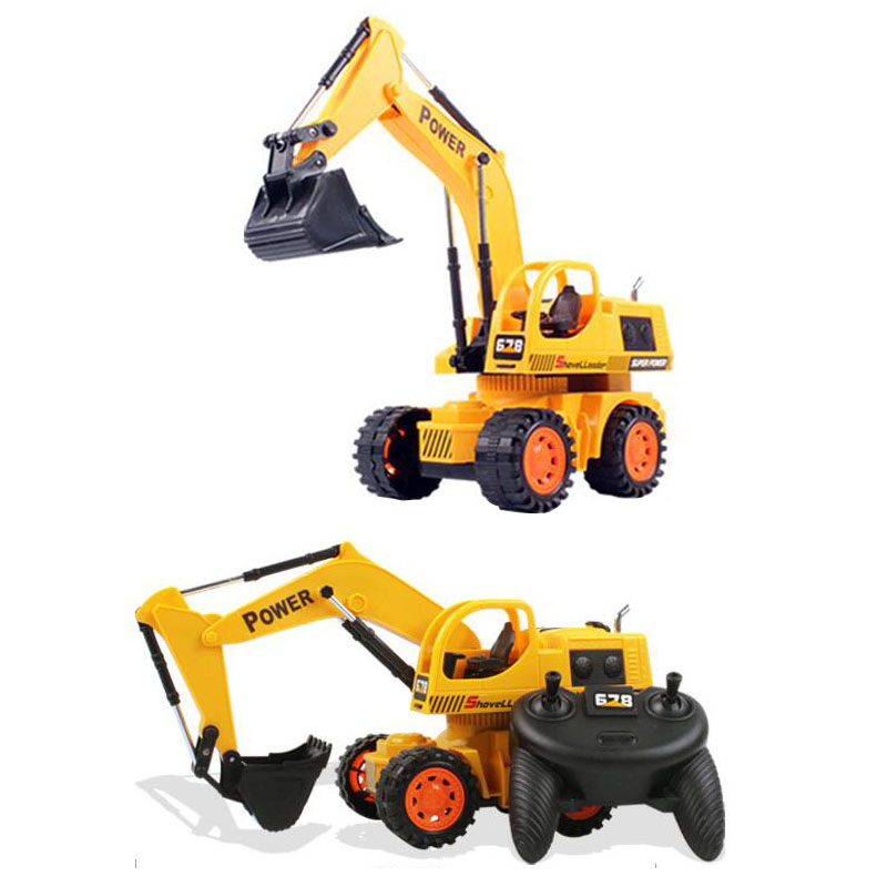2017 New Remote Control Simulation Engineering Excavator Wire Control Children s Educational Toys