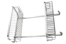 Viborg Sus304 Stainless Steel Extra thick Wire Wall Mounted Double Tier Shower Basket Shelf Tidy Rack