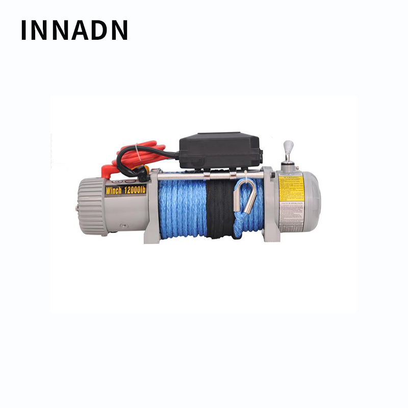 Electric Capstan WINCH 12000IB 12V Car Crane Electric Hoist Winch SUV Self-help Car Winch Crane Nylon Rope