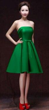 Короткое формальное элегантное короткое изумрудно-зеленое шампанское вино красные вечерние сексуальные женское вечернее платье синие Формальные женские горячие продажи W2905 - Цвет: Зеленый