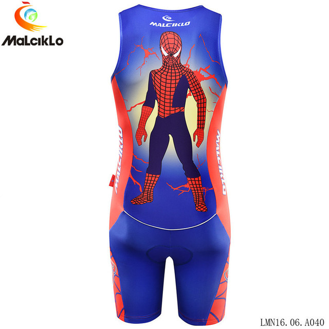 Malciklo sleeveless Triathlon cycling Jersey Maillot Ropa Ciclismo Hombre  Men Summer Spider-Man MTB Racing 40a810fcd