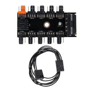 1Pc IDE Molex 1 do 10 sposób wentylator chłodzący PWM piasta 12V 4-Pin gniazdo zasilania Adapter PCB dla komputer stancjonarny wody układ chłodzenia Brand New