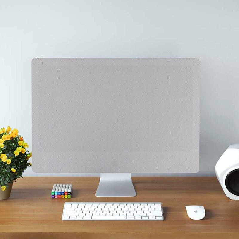 21 дюймов 27 дюймов iMac пылезащитный чехол для компьютера монитор пылезащитный чехол с внутренней мягкой пылезащитный че - Цвет: silver