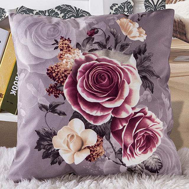 Vintage Romantic Classic Cushion  Pillowcase Square 45x45cm Throw Pillow  Home Bed Living Room Decorative