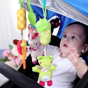 Image 5 - 赤ちゃん動物ソフトはおもちゃ幼児 0 12 月ベッドベビーベッドベビーカー音楽釣鐘キッズぬいぐるみ携帯ベビーぬいぐるみ игрушки