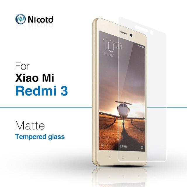 """9 H 0.26 мм отпечатков пальцев матовый закаленное стекло для Xiaomi Redmi 3 S Prime 3 5.0 """"Экран протектор Плёнки для Redmi 3 Pro"""