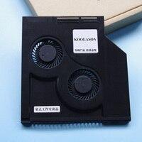 DIY Laptop Optical CD Drive Modified Refit Cooling Cooler SATA Interface Large air volume Ventilation turbo 2 Fans Radiator