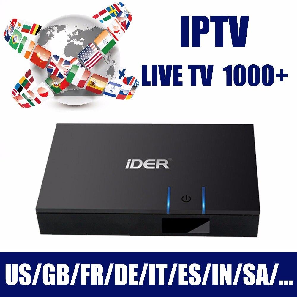 Boîtier IPTV arabe gratuit à vie, abonnement Android TV Box Tv en direct 1000 + ip tv, chaîne Asia France Italia sans frais annuels