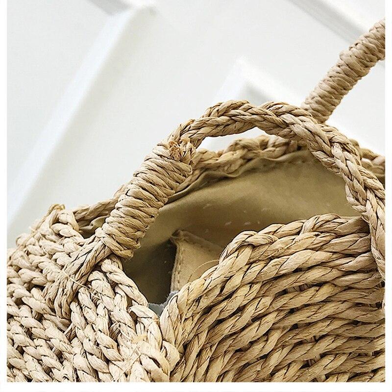Saco do Mensageiro do Vintage Bolsas Artesanais Rattan Tecido Corda