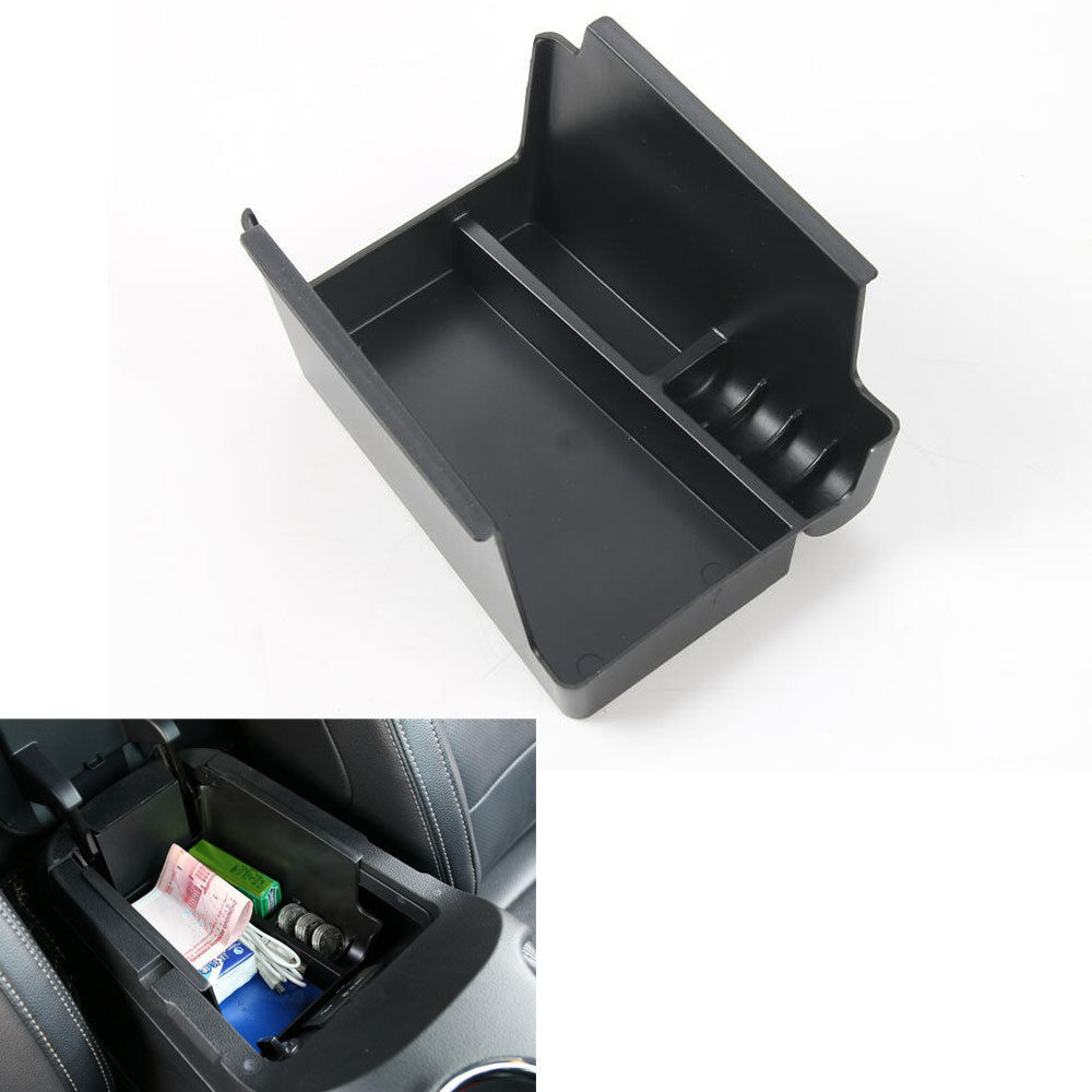 BBQ FUKA 1pc Console Armrest Secondary Storage Box Cover Trim Fit For Ford Mustang 2015 Car