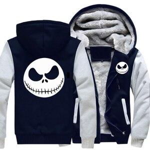 Image 4 - Mens Thicken Hoodie Nightmare Before Christmasแจ็คSkellingtonซิปเสื้อแจ็คเก็ตเสื้อแจ็คเก็ตเสื้อลำลองแขนยาวลำลองHooded