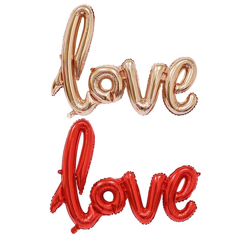 108*64 Cm Englisch Brief LIEBE Folienballon Alphabet Aluminium Ballon  Valentinstag Hochzeit Zeigen Heart Vorschlagen Dekoration In 108*64 Cm  Englisch Brief ...