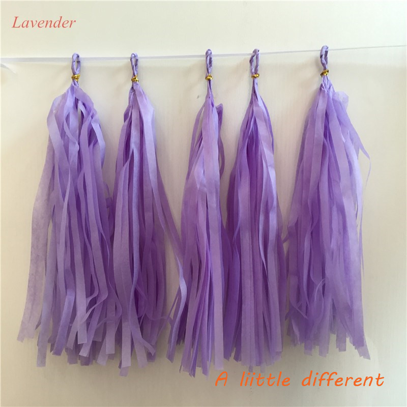 Promotion 25Lx10W cm 10pcs/lot Birthday Party Tissue Paper Tassel For Baby Shower Buffet Table Summer Pool Party Deco