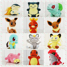 10-20cm eevee Meowth plush cartoon doll toys Squirtle turtle Torchic Groudon Bulbasaur Chikorita Cyndaquil Snorlax Charmander