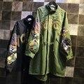 Mulheres jaqueta de 2016 Nova Fêmea Chegada Exército Verde Rebite Impresso Jaqueta Chaquetas Mujer Outono Casacos Para Brasão Mulheres Z209