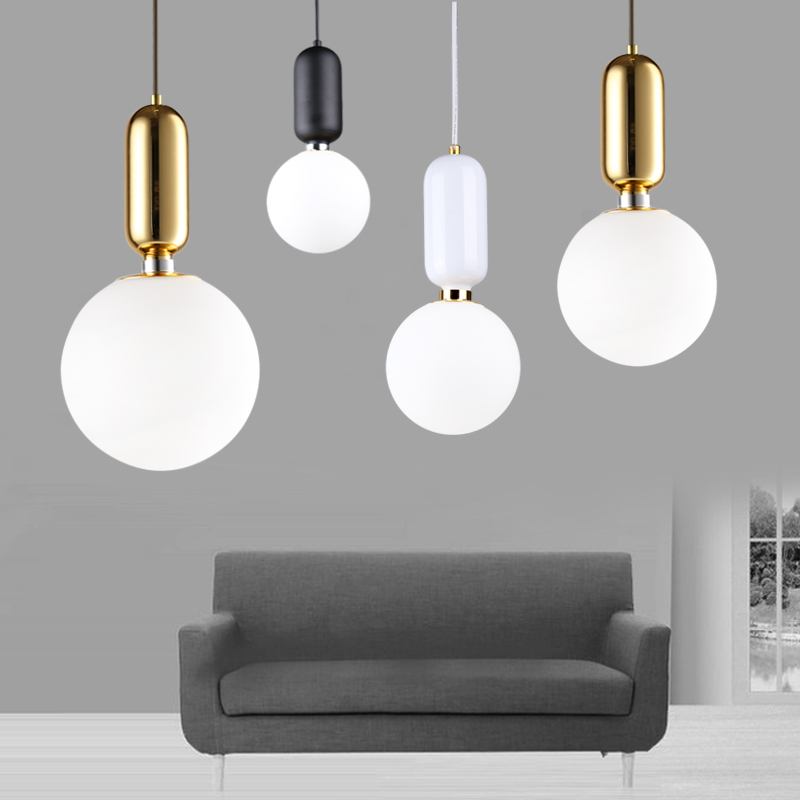Modern Glass Pendant Lights For Living Room Dining Room Bedroom AC96-265V Deco Hanging Pendant Lamp Fixtures a1 master bedroom living room lamp crystal pendant lights dining room lamp european style dual use fashion pendant lamps