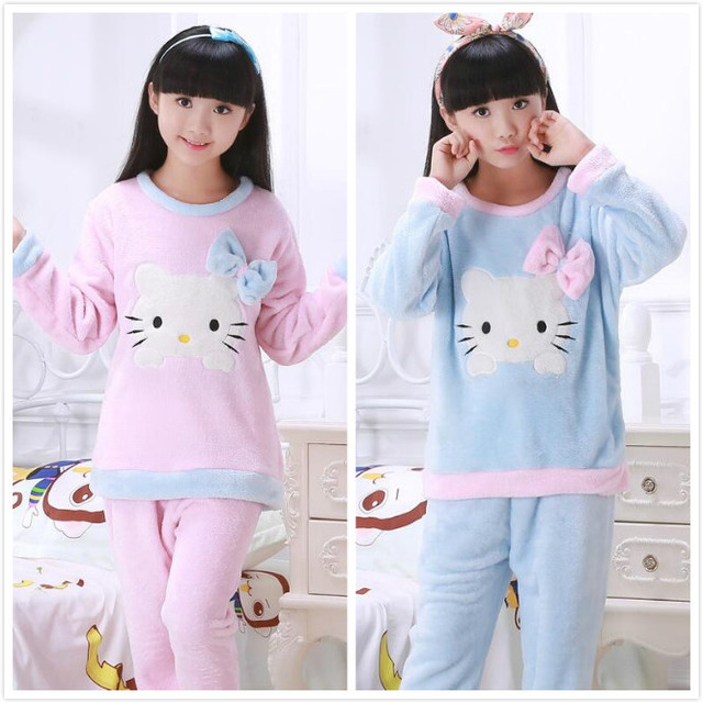 1d88582c0 New Arrival Flannel pajamas Tshirt + Pants Set Baby Girls Boy Warm ...