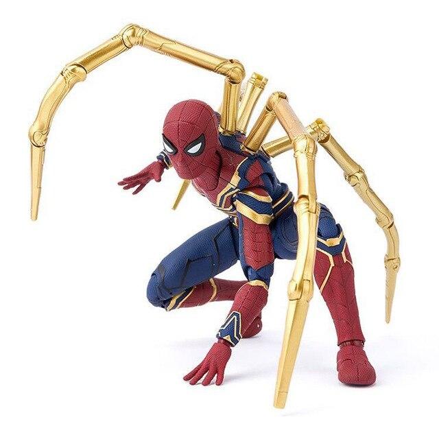 2018 17 cm Marvel Avengers Brinquedos Infinito Guerra Figuras de Super-heróis homem-Aranha Spiderman PVC Action Figure Collectible Modelo Bonecas brinquedo