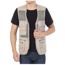 1PC Men's Mesh Fishing Vest Multi-pockets TOPIND Outdoors fishinger's Vest Jacket