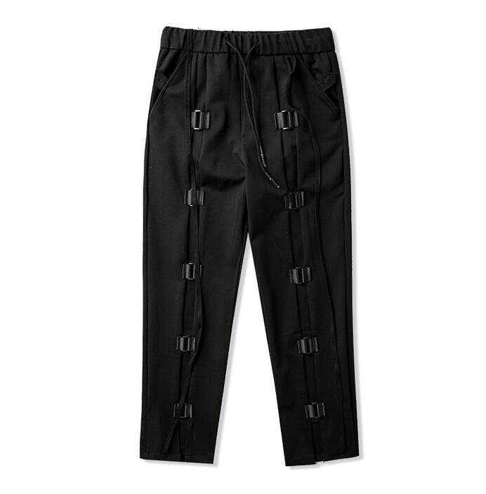 Autumn loose personality fashion mens pants elastic waist harem pant men feet trousers pantalones hombre cargo pantalon homme