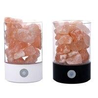 Portable Mini USB Crystal Salt Night Light Himalayan Crystal Rock Salt Lamp Air Purifier Night Light