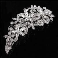 Luxurious Flower Sharp Czech Rhinestone Bridal Hair Combs Hair Accessories Wedding Hair Jewelry Wedding Accessories FW002