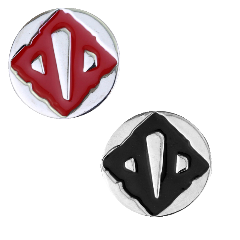 RJ Fashion High Quality Dota 2 VALVE Logo Metal Alloy Brooches Silver Tone  Red Black Enamel Pin Brooch For Women Men Gift In Brooches From Jewelry ...