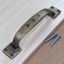 96mm Vintage kitchen cabinet handle pull antqiue brass cupboard dresser pull bronze drawer wardrobe furniture knob