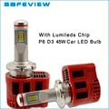 Socket de alta potencia 45 W 9000LM D3S D3R bombilla Del Faro LLEVADO P6 Canbus ZES chip Kit 6000 K DC11V-30V LEDlamp