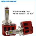 high power 45W 9000LM D3S D3R socket LED Headlight bulb P6 Canbus ZES chip LEDlamp Kit 6000K DC11V-30V