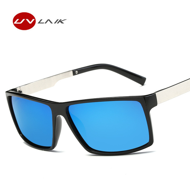 c29b0d5953 UVLAIK TAC Lens Polarized Sunglasses Men Retro Fashion Driver Sun Glasses  Mens Safety Protect Driving Sunglasses